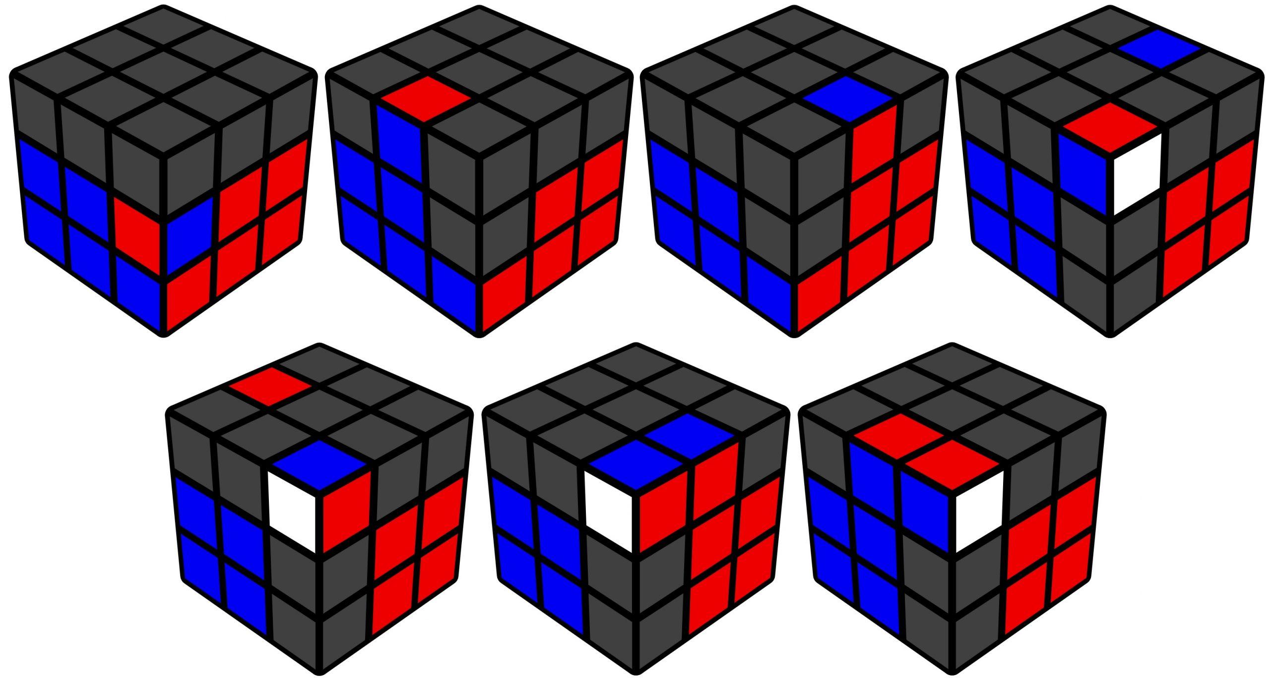 F2L: D3. F3, E3, Pesca dir e esq, I2, I1