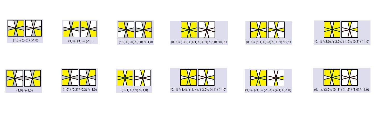 Orientar cantos e meios Square-1