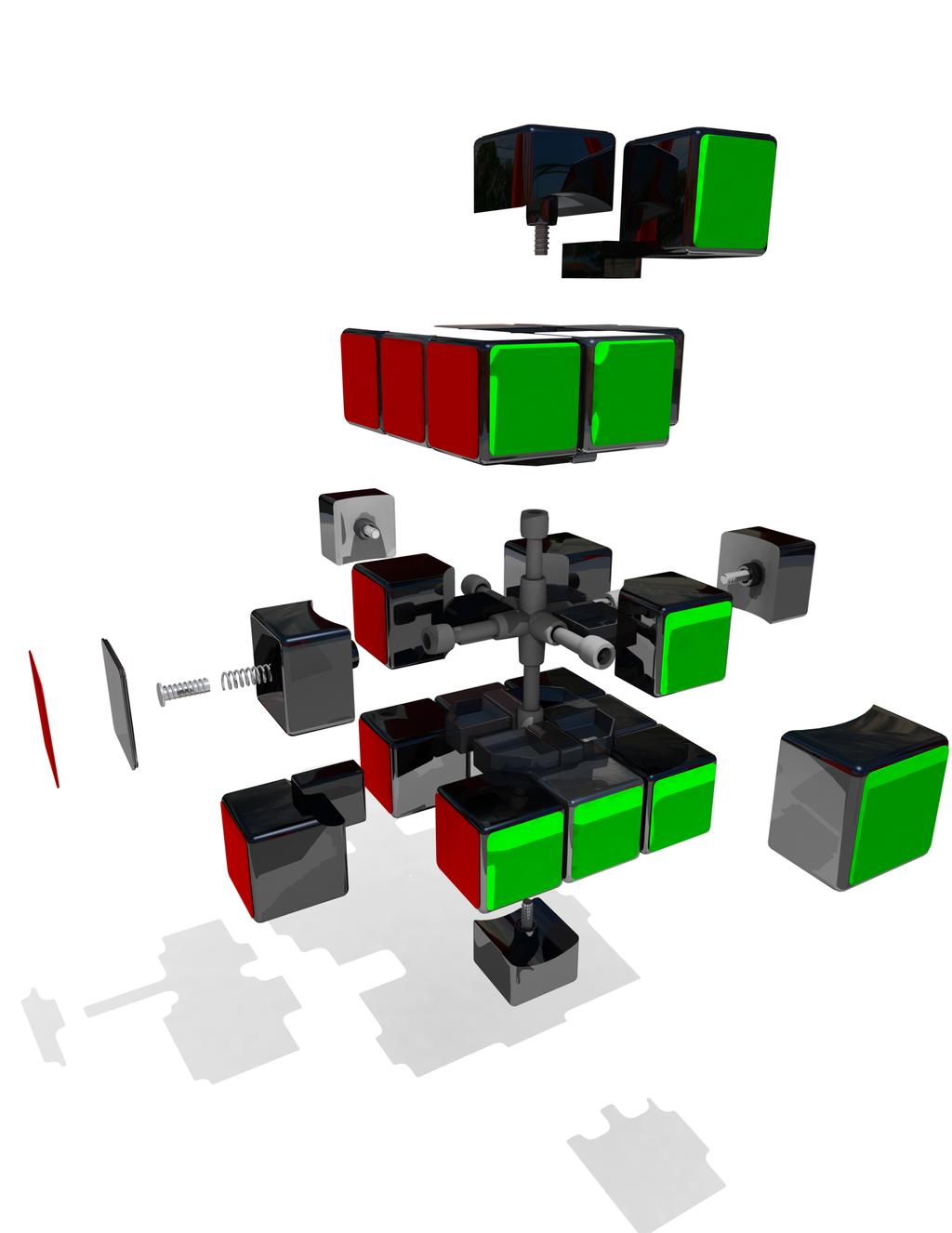 Montar as peças do Cubo Mágico